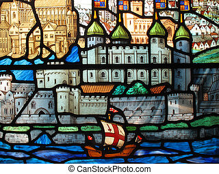 Stained Glass Tower Of London