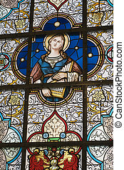 stained glass window - church