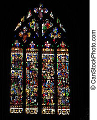 stained-glass-window, church,