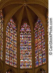 stained-glass window in saint gatien