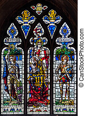 Stained glass window Norwich Cathedral