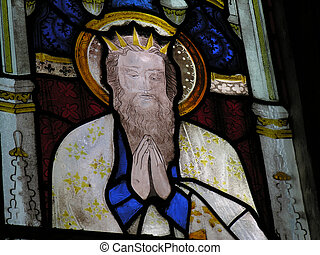 Stained Glass Window - St Andrews Church Mells Somerset...