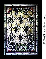 stained-glass window - Stained-glass window the Winchester...