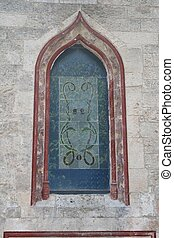 stained-glass window-stone