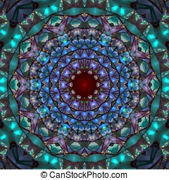 Stained Kaleidoscope Abstract - Colorful stained glass...