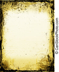 Stained paper - Old stained paper background