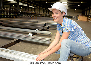 stainless factory worker