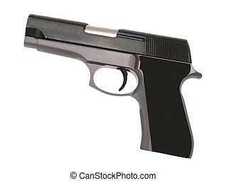 stainless steel automatic pistol gun