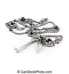 Stainless steel chain with key