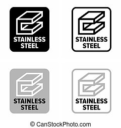 """Stainless steel"" corrosion resistant inox, information sign"