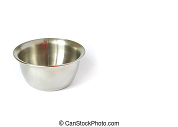 stainless steel cup isolated on white