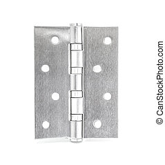 Stainless Steel Door Hinges On White Background