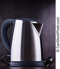 Stainless steel electric cordless kettle of one litre ...