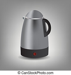 Stainless steel electric kettle icon vector illustration