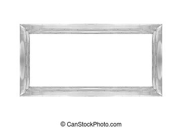 Stainless steel frame isolated on white background