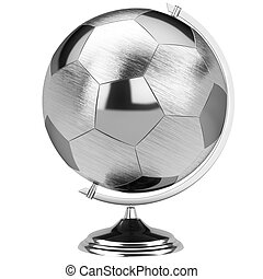 stainless steel globe of the soccer