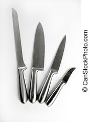 Stainless steel knifes collection