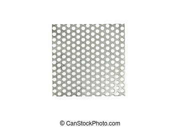 Stainless steel metal texture on white background