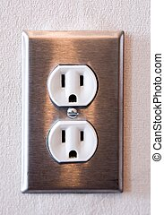 Stainless Steel American electrical outlet