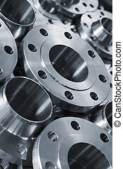Stainless steel products - Monochrome image of stainless...