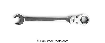 Stainless steel ratchet wrench.