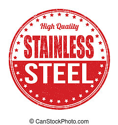 Stainless steel stamp - Stainless steel grunge rubber stamp ...