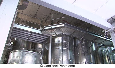 Stainless steel wine distilling vat