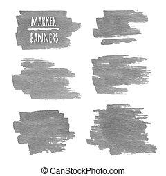 stains., affiche, carte affaires, textured, lignes, bannières, cahier, gabarit, invitation, marqueur, bannière