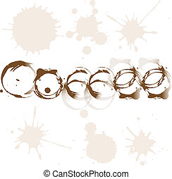 Stains of coffee