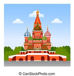 Staint Basil Cathedral. Travel to Moscow, Russia, Red Square