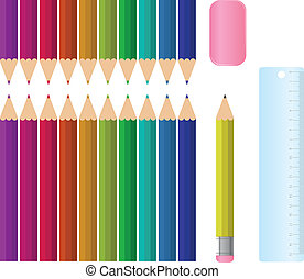 Staionary Set - A colourful school stationary set, complete ...