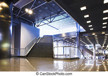 Stair and lights on ceiling i