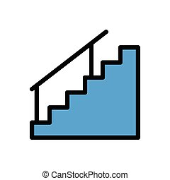stair  flat color icon