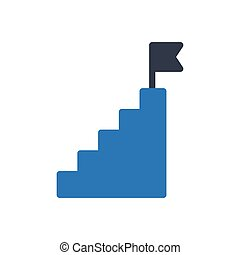 stair  glyph color icon