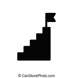 stair  glyph flat icon