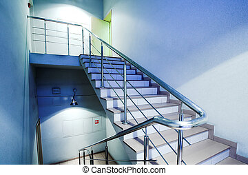 Stair in office hall