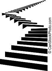 Stair in sky4 - Stair as a symbol of height is in...