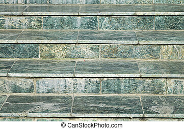 steps of a stair, green marble