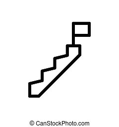 stair thin line icon