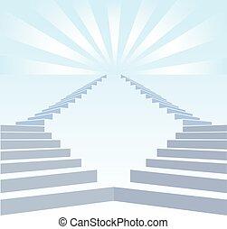 Stair upwards and refulgency
