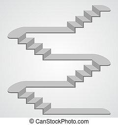 Staircase 3d. Vector - Staircase 3d art sign object. Vector...