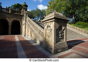 Staircase at Bethesda Terrace in Central Park