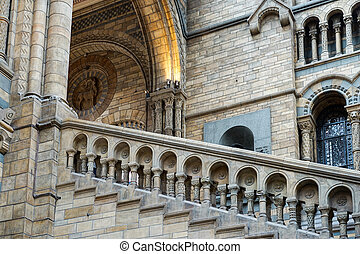 Staircase at the Natural History Museum in London