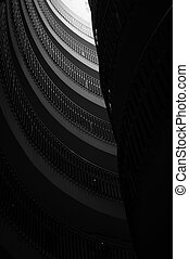 Staircase bw