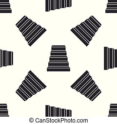 Staircase icon seamless pattern on white background. Flat design. Vector Illustration