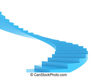 Staircase - Illustration of the spiral staircase going...