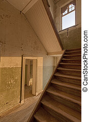 Staircase in a deserted building, Namibia