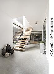 Staircase in a minimalist villa