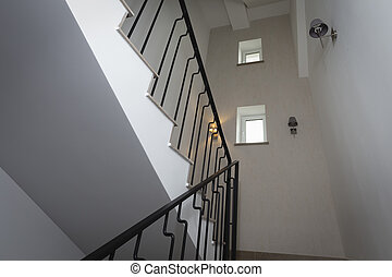 Staircase in the building.
