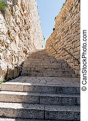 staircase in the old city of Jerusalem